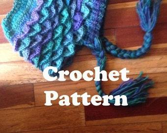 Crochet Messy Bun Hat Pattern, Dragon Scale Crochet Pattern, Messy Bun Hat, Crocodile Crochet Pattern, Crochet Hat, Fall Hat, Trendy Hat PDF