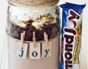 Almond Joy Cookies in a jar