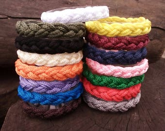 Summer Cord Bracelet, String Friendship Bracelet, Party Beach Bracelet, Turks Head, 15 Colors, String Sailor Bracelet, Surfer Cord Bracelet