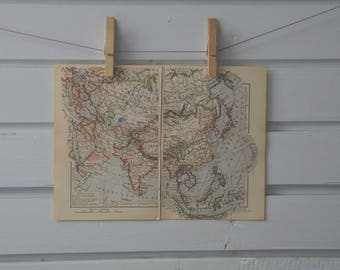 1933 Vintage Asia Map