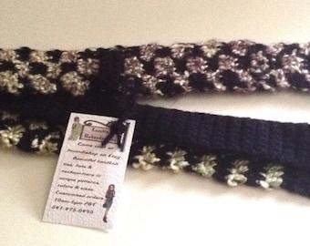 "Big n Tall Men's Knit Checkerboard Crochet Necktie 65"" L x 2 1/2"" W Navy/multi Skinny Tie"