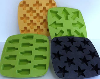Rubbery Molds Bundle Maria Vinka & Anna Efverlund Molds for Crafting Candy or Ice Cubes or Jello or Cold Soap, 4 Pce Bundle of Craft Molds