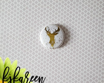 "Badge 1 ""- deer metallic gold"