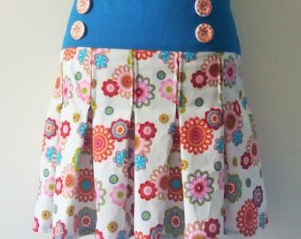 Pleated skirt pleat retro