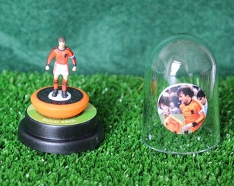 Ruud Krol (Holland) - Hand-painted Subbuteo figure housed in plastic dome.