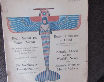 Vintage Leslie's Magazine May 3rd 1919 Free Shipping