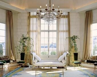 CHAMPAGNE CHIFFON curtain, sheer, window dressing, draping, home decor, interior decor, window treatment, cream, off white, beige