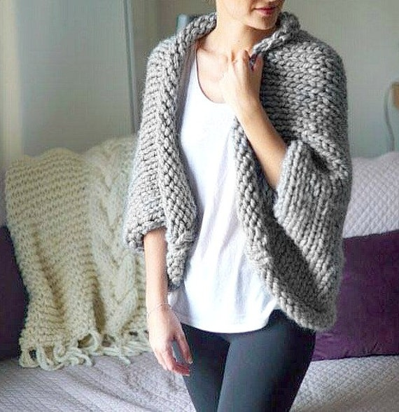 Free Knitting Pattern Chunky Wool Cardigan : Oversized Chunky Knit Cardigan Pattern - Cashmere Sweater England