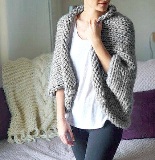 Chunky Cardigan Knitting Pattern : Chunky knit cardigan knitted oversized sweater by thesnugglery
