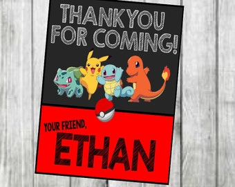 Pokemon Thank You Cards