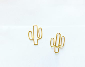 3pk Cactus Paper Clips Bookmark for your Planner