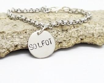 Customized bracelet, charm bracelet, engraved bracelet, chain bracelet, name bracelet, date bracelet, silver plated , gift for her,