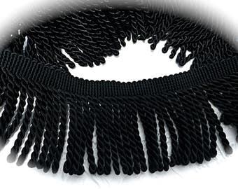 Black Twist Fringe Upolstery Trim Costume Trim  T-196