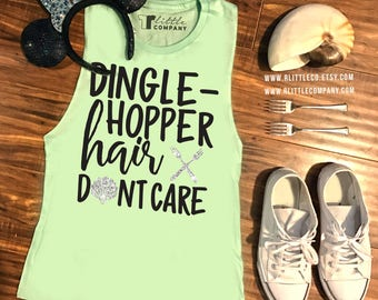 Dinglehopper Hair Don't Care Women's Tank XS-4X // Disneyland // Disney World