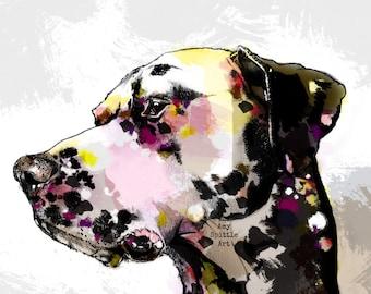 Dalmatian Art - Dalmatian Print - Dalmatian Drawing - Dalmatian Decor - Dalmatian Gift  - Dalmatian Print - Dalmatian Lover - 101 dalmatians