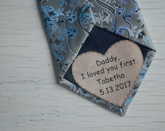 gift from bride wedding day father in law parent wedding patch iron on tie label step dad gift of the bride sympathy gift with love daddy