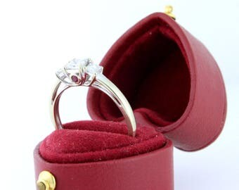 Detailed Diamond Three Across with Hidden Ruby .70tcw Past Present Perfect Future 14k white gold DIAR10042