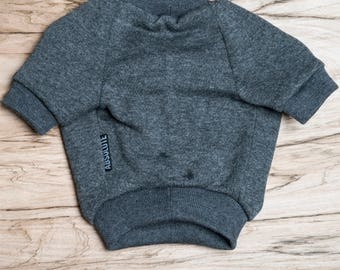SALE PRICE - one size only - Dog / cat Jumper / Sweatshirt - Dark Grey -  Handmade pet clothes - Ideal for dogs,  puppies and cats