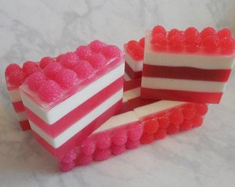 Raspberry Soap - Red Raspberry - Pink Raspberry - Black Raspberry - Fruity Soap - Fake Food Soap - Faux Food - Dessert Soap - Shea Butter