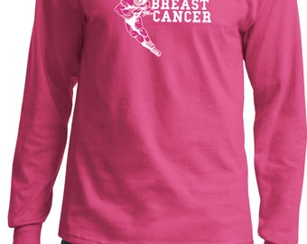 Men's Breast Cancer Awareness Shirt Sack Breast Cancer Long Sleeve Tee T-Shirt 18771-PC61LS