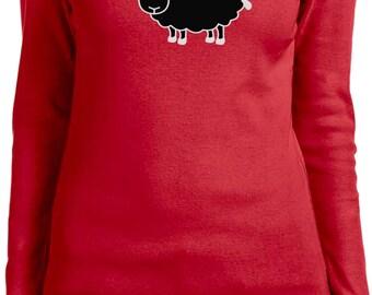 Ladies Black Sheep of the Family Long Sleeve Tee T-Shirt BLACKSHEEP-5001