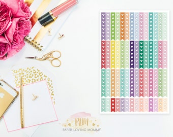 56 Heart Checklist Stickers | Planner Stickers designed for use with the Erin Condren Life Planner | 0902