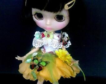 Blythe vestiti, Blythe dress, blythe abito, Flower Fairy, Blythe outfits