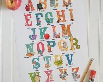 Teacher Appreciation / Thank You Gift - School Alphabet