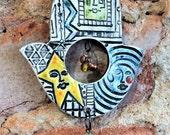 Hamsa Hand, Rear View Mirror Charm, Chime, Hand of Fatima, Buddha, Bells, Yoga Charm, Peaceful, ready to ship
