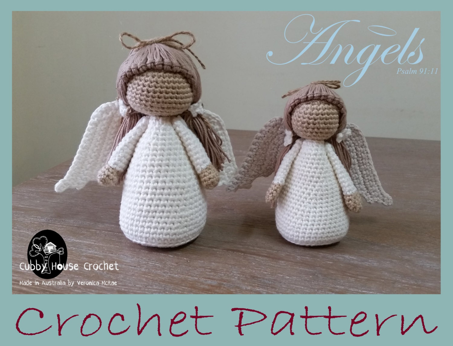 Amigurumi Schematy : Crochet angel amigurumi pattern kalulu for