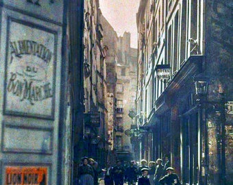 Auto Chrome Photo, Rue Inconnue, Paris, early 1900s