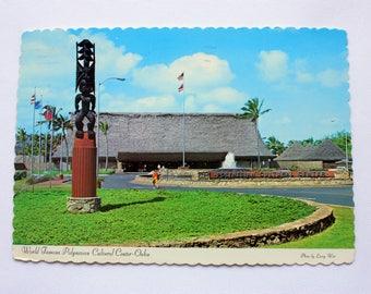 Polynesian Cultural Centre Oahu Hawaii Postcard  / Ouhu  Postcard / Hawaii Postcard