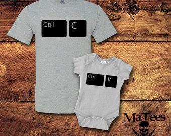 Copy Paste, Copy Paste Shirts, Copy Paste Father Baby, Fathers Day Gift, Fathers Day, Father Son Matching Shirts, Father Son Shirt, T-Shirt