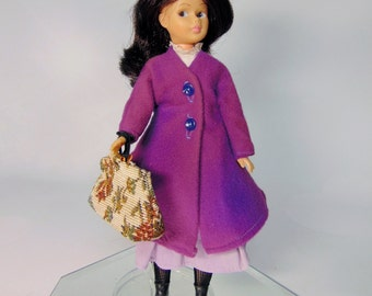 Vintage 1964 Horsman Walt Disney MARY POPPINS DOLL Hat Embroidered Canvas Purse Handbag Doll Stand Black Boots - Excellent Conditon!