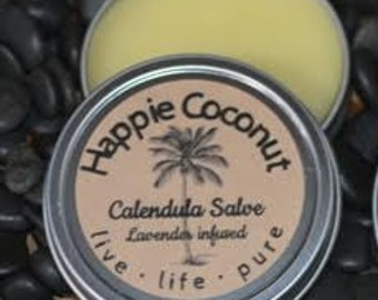 Happie Coconut Calendula Salve with Lavender