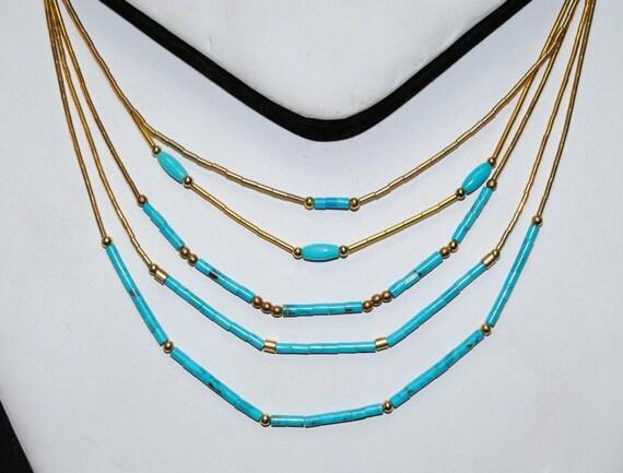 Turquoise necklace - woman necklace - discrete necklace - woman necklace - native american jewelry