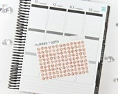 117 Rose Gold Glitter Dot Stickers | S047 | Planner Stickers