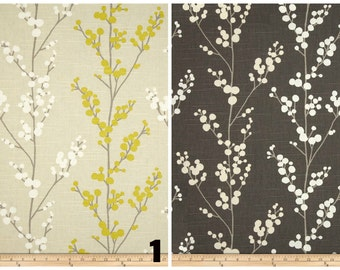PAIR of window curtains window panels drapes window treatments floral curtains