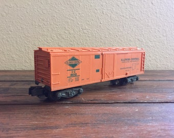 "Vintage American Flyer Box Car Train/ A.C. Gilbert Co./ Illinois Central 802/ 1960's Trains/ Measures: 7.75"" Long"