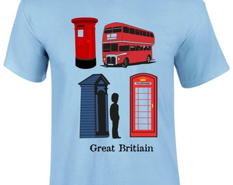 Great Britain Traditional Heritage Structures Graphic Men T-shirt - GreatBritainStructres-Mss