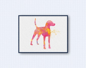 American Foxhound Watercolor Poster