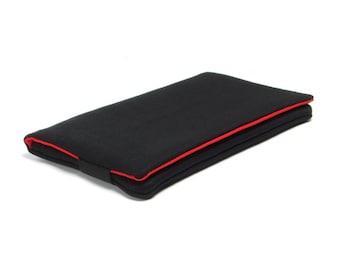 Iphone SE Case, Iphone 6s Case, Iphone 6 Plus Case -  Black, Fabric