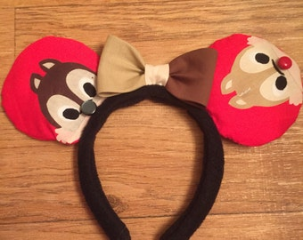 Chip & Dale Mickey Ears, Chip and Dale Disney Inspired Ears