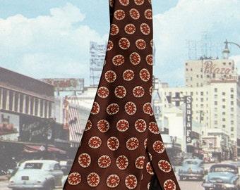 American 1950s Brown Swing Necktie