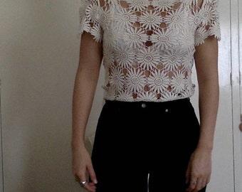 Daisy Crochet Top