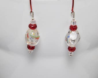 Fire and ice earrings-A315