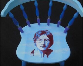 Bill Schuler Art Presents John Lennon Imagine Chair.  1 of 1.