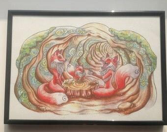 The Burrow Art Print A4