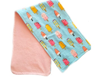 Happy Ice Cream Burp Cloth / Baby shower Gift / Baby Gift / Funny Burp Cloth / Kawaii