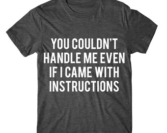 You Couldn't Handle Me Even If I Came With Instructions, Womens Tshirt